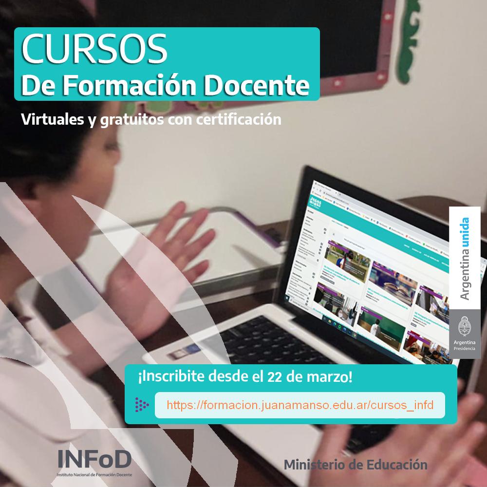 Cursos De Formacion Docente Virtuales Y Gratuitos Con Certificacion Instituto Nacional De Formacion Docente